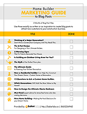 Home Builder Marketing Guide to Blog Posts